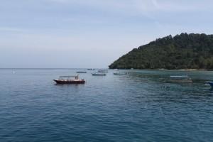 Малайзия. Остров Тиоман. Пристань деревни Salang.