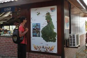 Малайзия. Остров Тиоман. Карта достопримечательностей для дайверов.