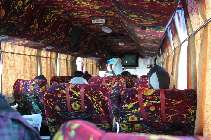 Малайзия. Автобус изнутри.