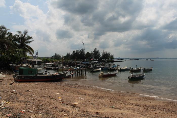 Порт Диксон. Лодки рыбаков.