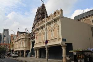 Куала-Лумпур. Индуистский храм Sri Mahamariamman.