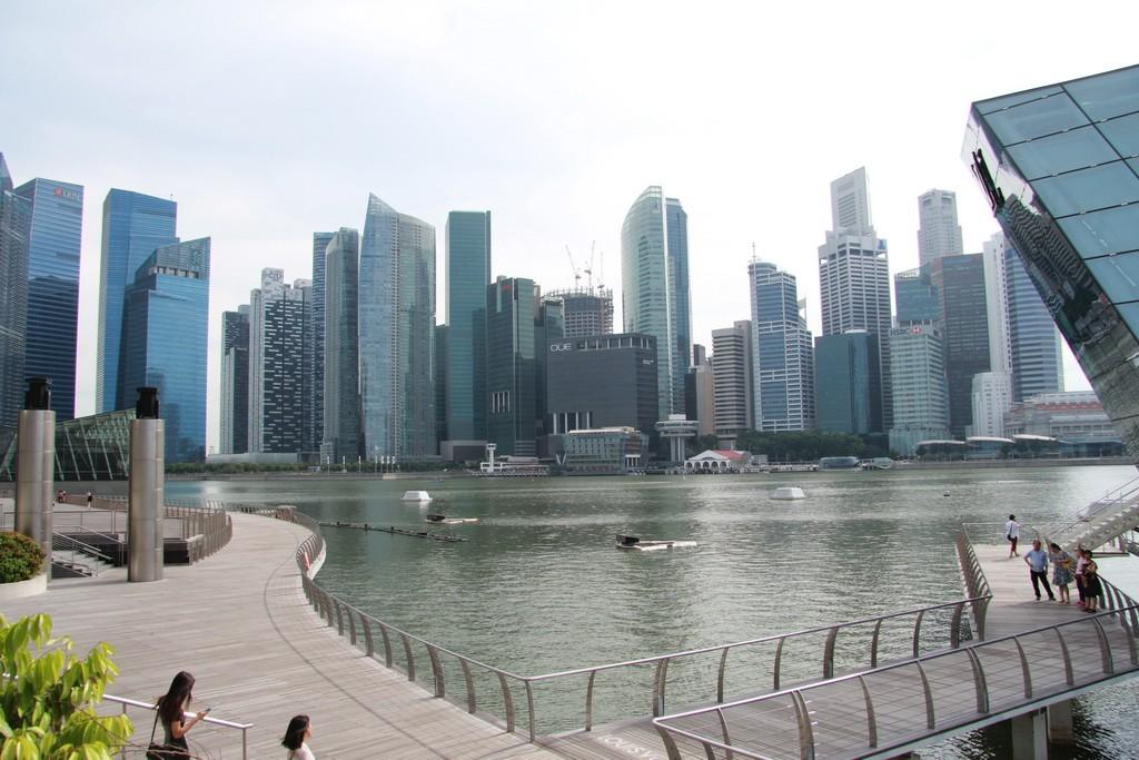 Сингапур. Залив Marina Bay.
