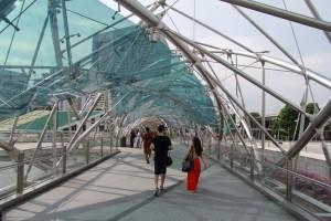 Сингапур. Мост спираль Хеликс.