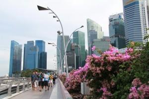 Сингапур. Набережная Марина Бэй.