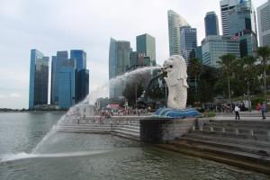 Сингапур. Статуя Мерлиона.