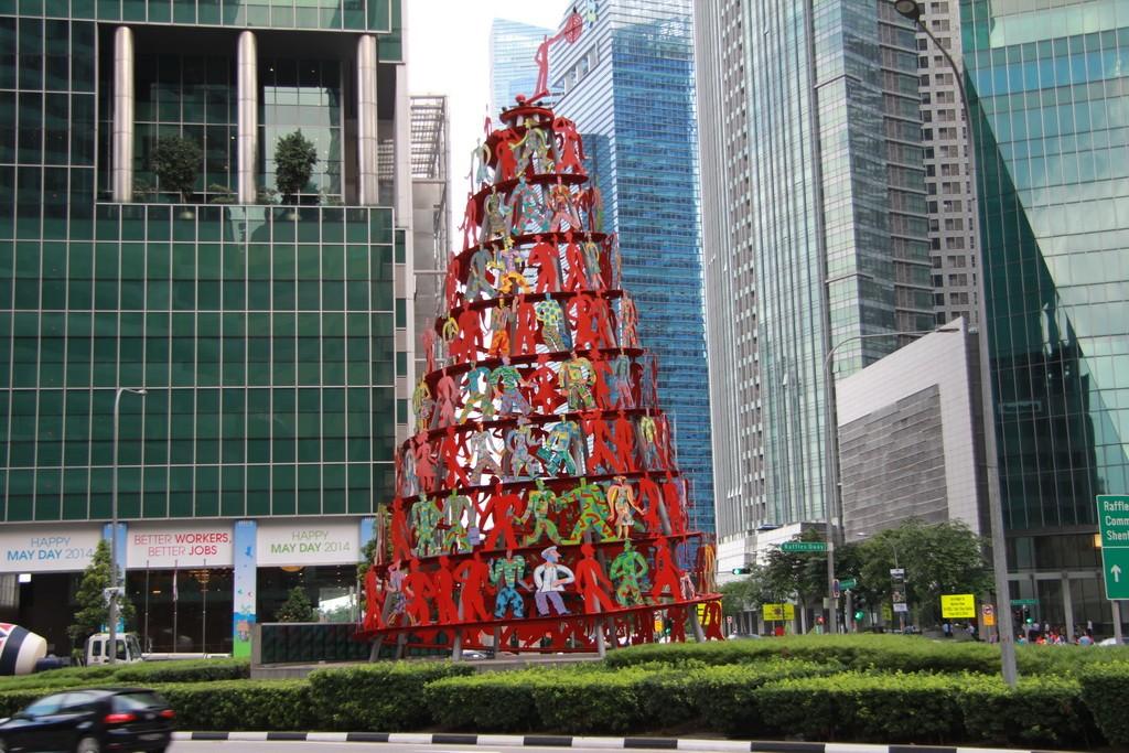 Сингапур. Елка из людей.