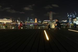 Сингапур. Марина Бэй. В ожидании лазерного шоу.