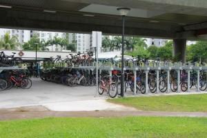 Сингапур. Велопарковка.