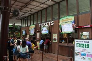 Сингапур. Кассы зоопарка.