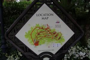 Сингапур. Карта сада орхидей.