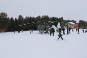 Хелиски на горнолыжной базе Каракол.
