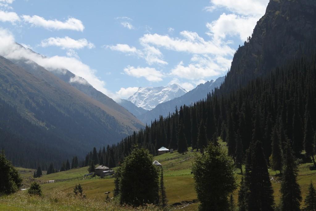 Киргизия. Ущелье Алтын-Арашан. Вид на пик Палатка.