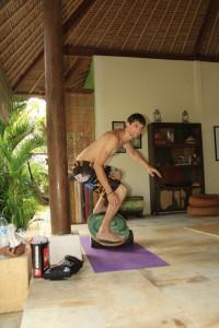 Wave House. Тренировка на баланс борде.