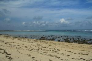 Бали. Песчанная коса пляжа Пандава.