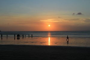 Закат на Бали. Джимбаран.