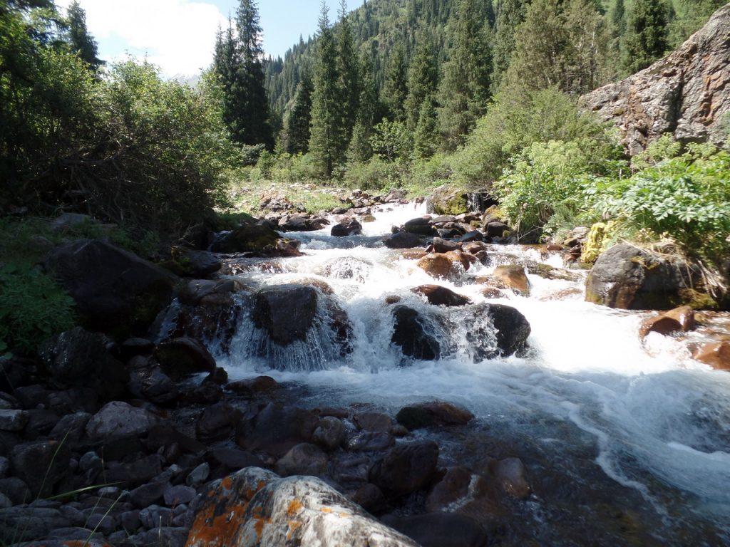 Река Коль-Тор в одноименном ущелье.