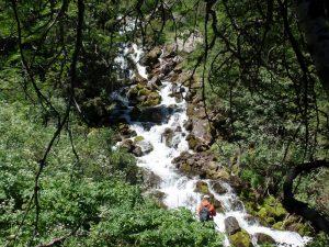 Каскадный водопад в Кегеты.