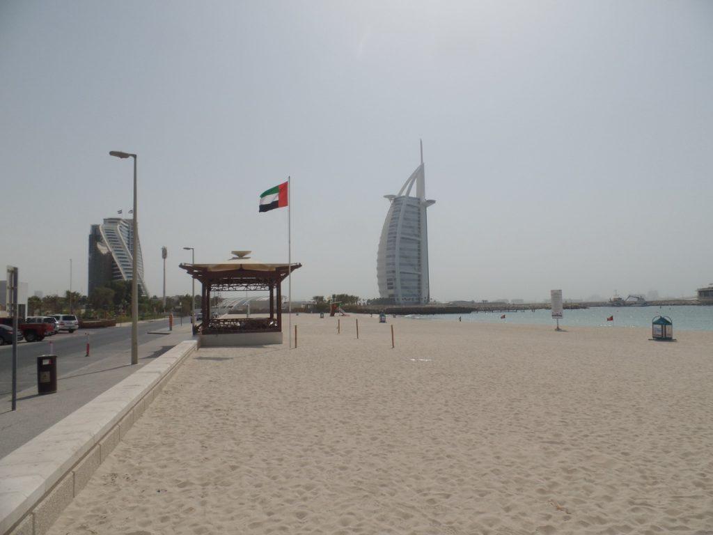 Пляж у Бурж Аль Араб