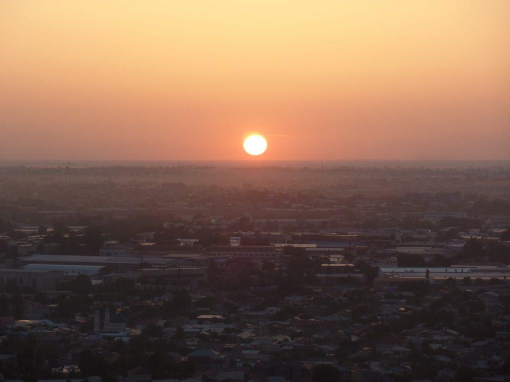 Закат над Ташкентом.