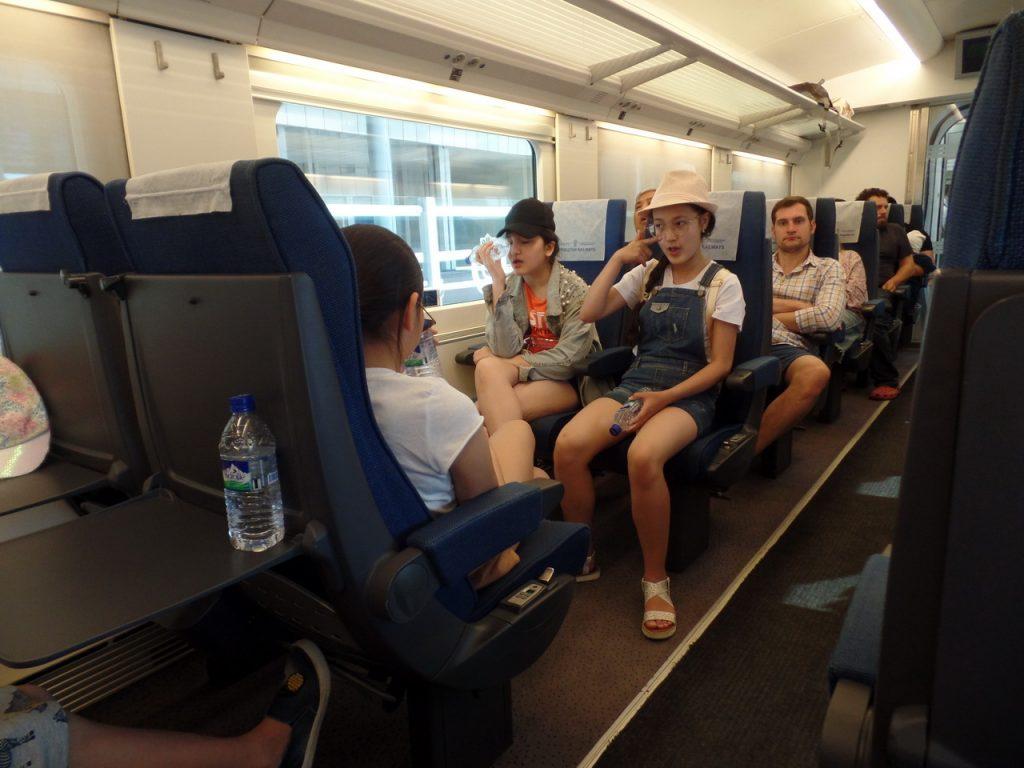 Поезд Афросиаб внутри.