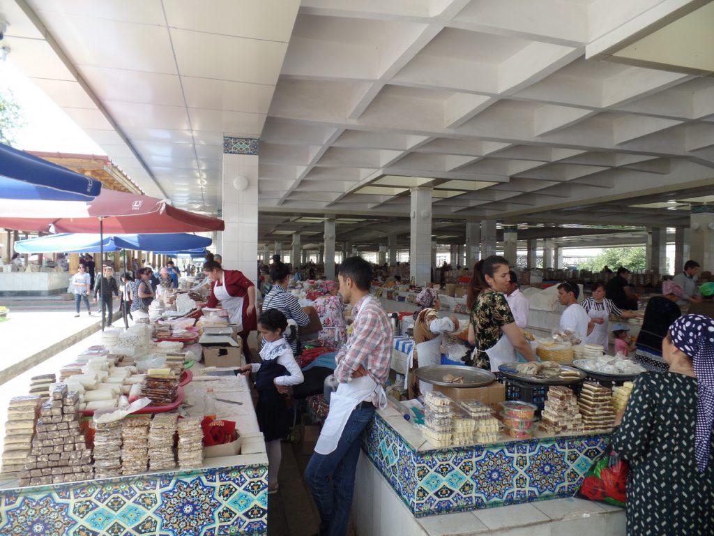 Торговые ряды Сиабского базара
