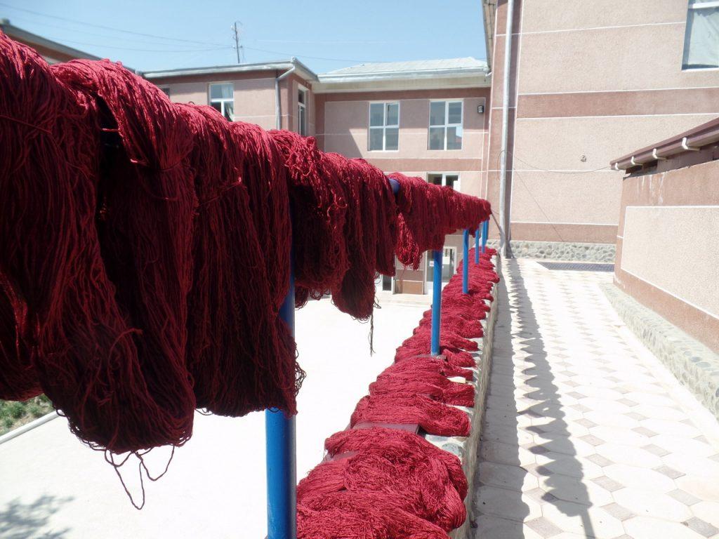 Шелковые нити для ковров