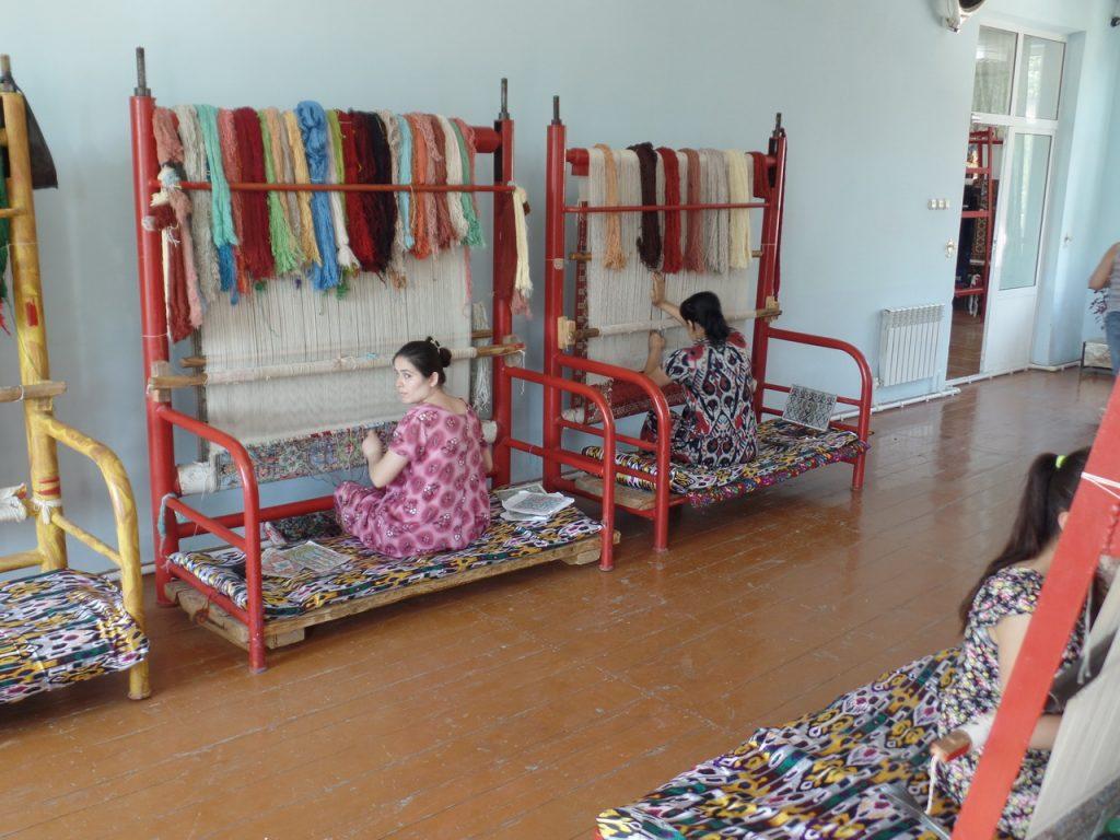 Фабрика ковров в Самарканде