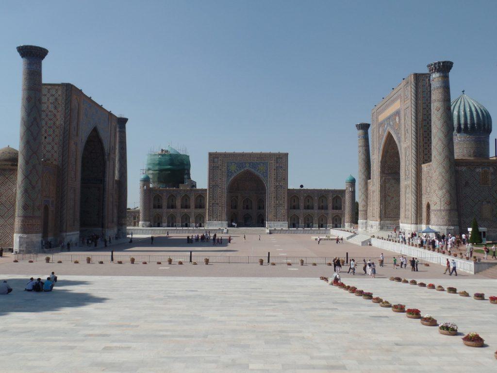 Регистан визитная карточка Самарканда