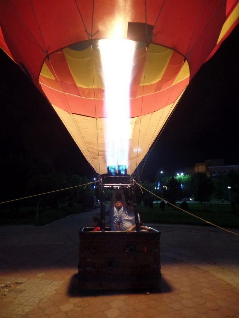 Воздушный шар в Самарканде